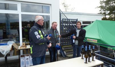 Die Landesmeister im Folkeboot v.l. Uli Haase, Frank Suchanek, Thorsten Schütt
